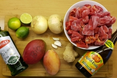 Zutaten für die fruchtige Hot Sauce